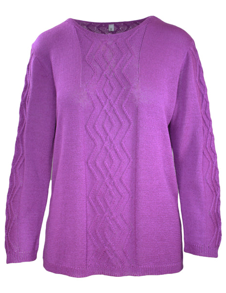Long Sleeve Cable Panel Jumper