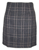 Gold Check Tweed Skirt