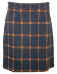 Textured Check Skirt