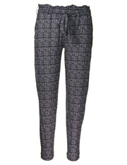 MITZY Check Print Cosy Trouser
