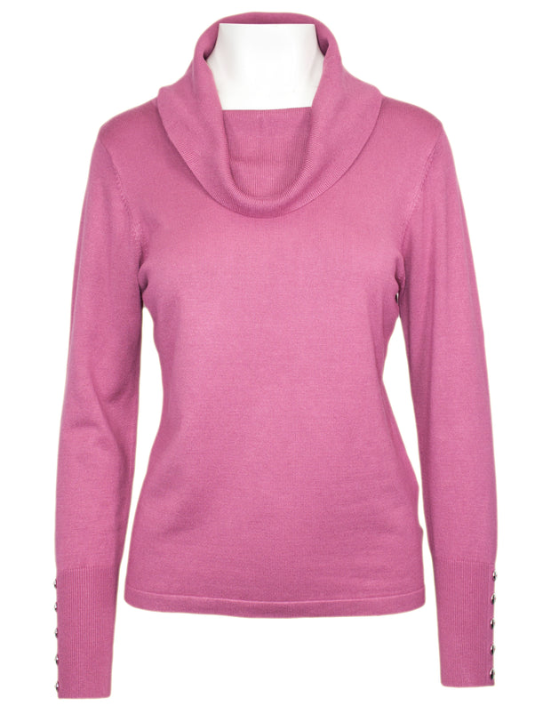 MITZY Long Sleeve Cowl Neck Jumper