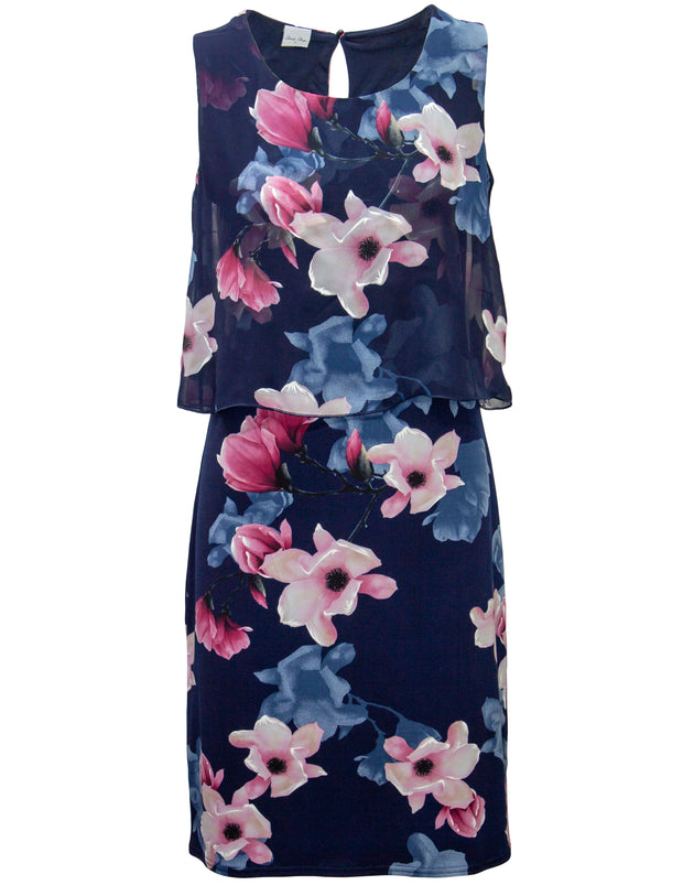 Layered Dress in Floral Print