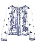 MITZY Navy Embroidered Jacket