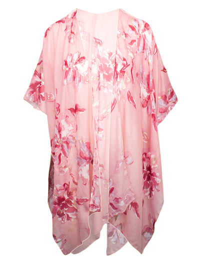 MITZY Floral Foil Cover Up