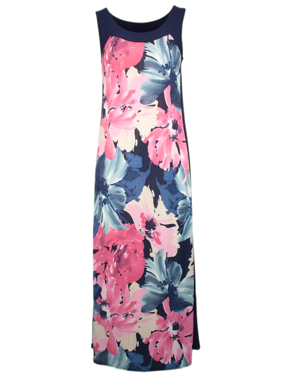 MITZY Floral Jersey Maxi Dress