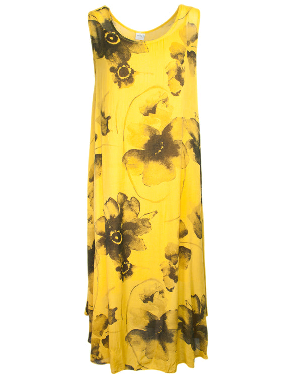 MITZY Sleeveless Large Floral Dress