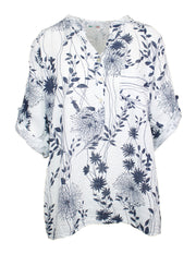 MITZY Button Placket Floral Shirt