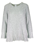 Long Sleeve Sequin Slub Jumper