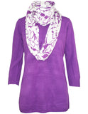 Contrast Print Snood Jumper