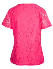MITZY Short Sleeve Floral Lace T-shirt