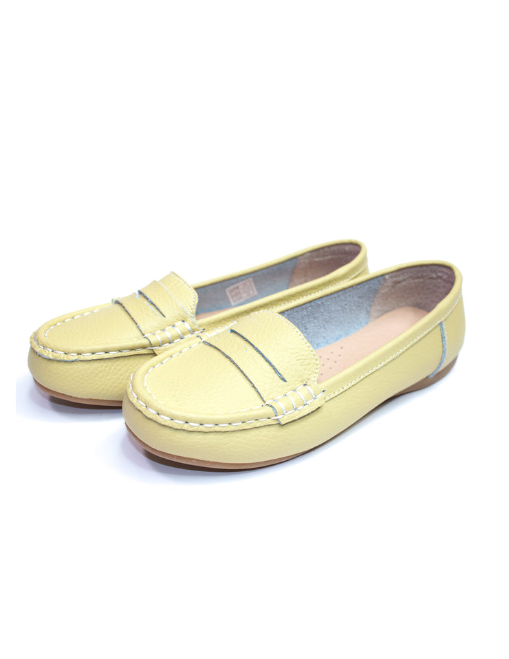 MITZY Leather Moccasin Shoes