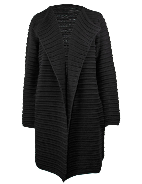 Long Sleeve Long Ribbed Cardigan
