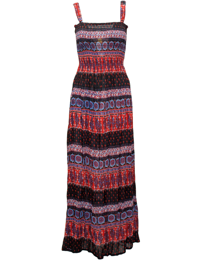 Maxi Dress In Morrocan Stripe Print