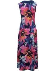 Maxi Dress In Bright Floral Print