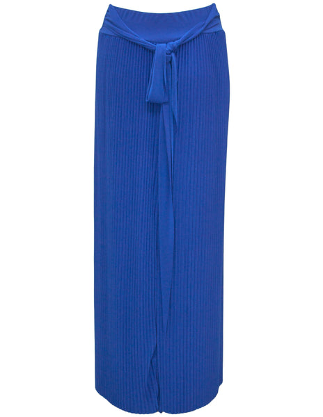 Pleated Maxi Skirt With Tie Waist