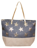 MITZY Metallic Star Straw Bag