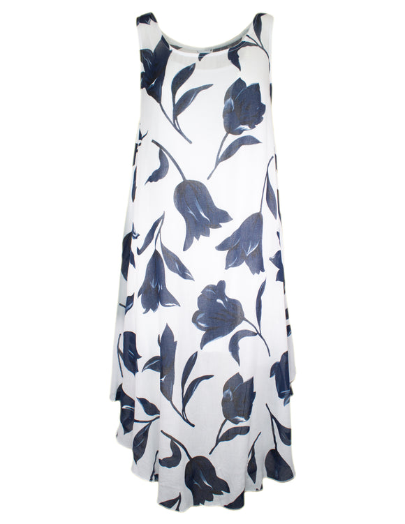 MITZY Sleeveless Tulip Midi Dress