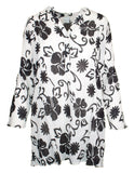MITZY Mono Floral Crinkle Blouse