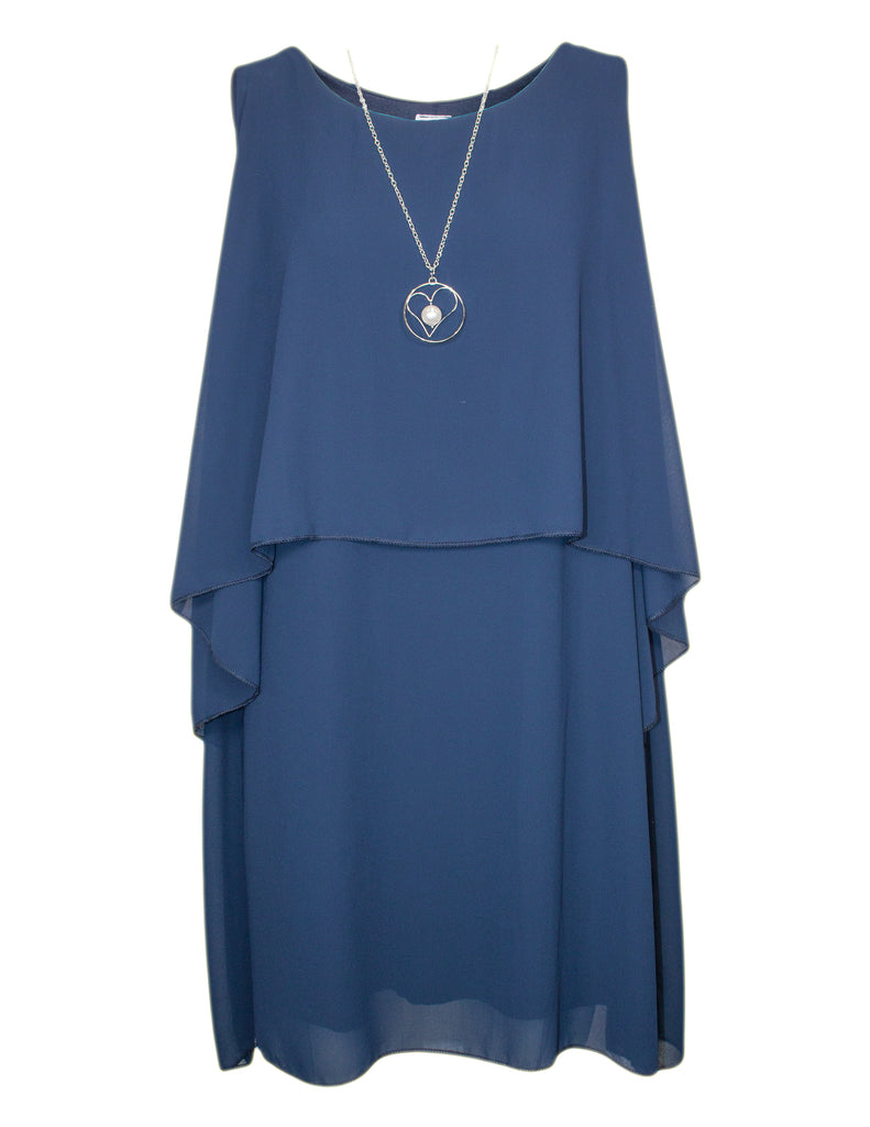MITZY Layered Dress with Necklace