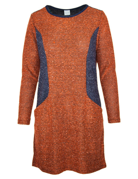 Side Panel Boucle Dress
