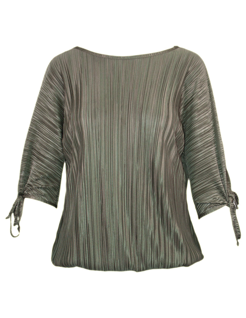 Plisse Bubble Hem Top