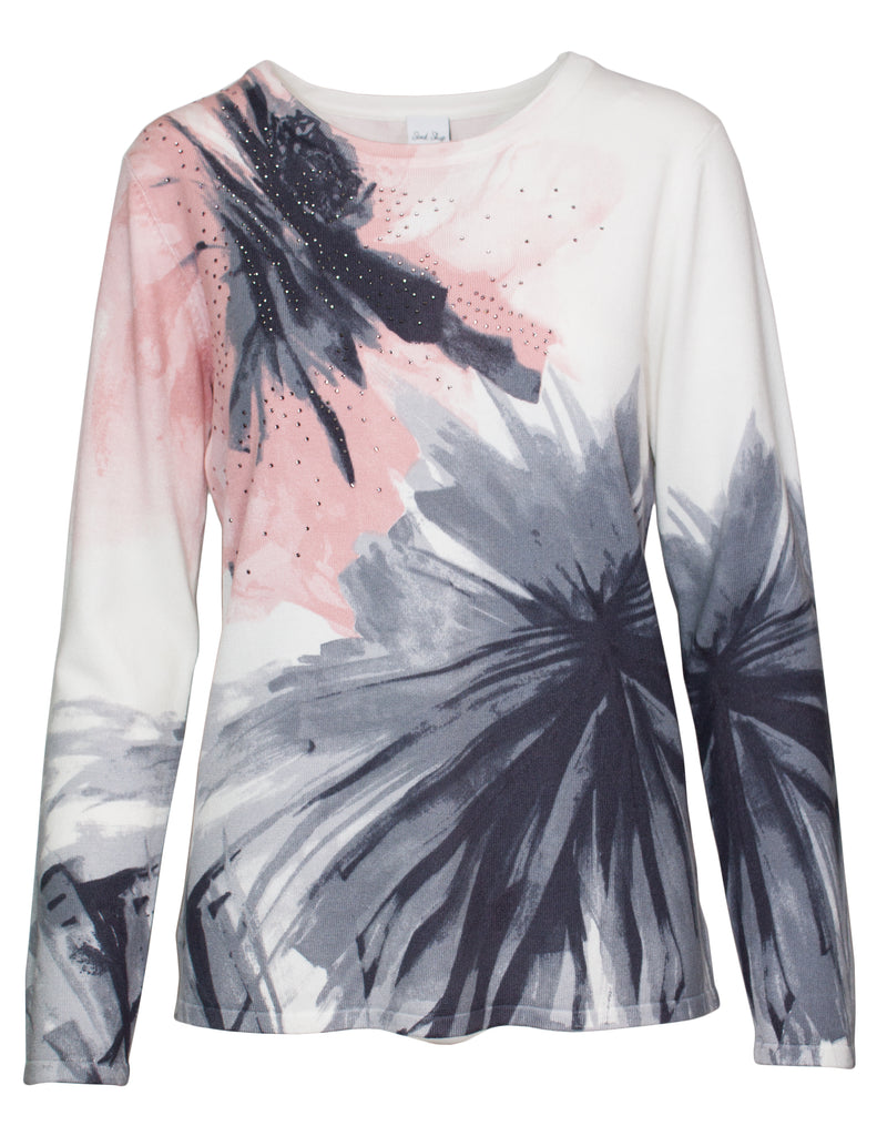 Soft Flower Printed Jumper