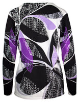 Shadow Leaf Print Jumper