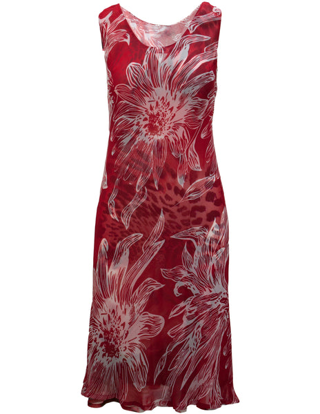 Reversible Midi Dress  In Animal And Floral Print
