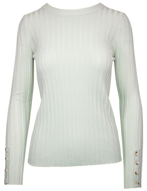 MITZY Long Button Sleeve Rib Jumper