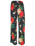 MITZY Rose Print Wide Leg Trousers