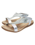 Diamante Circle Design Sandals