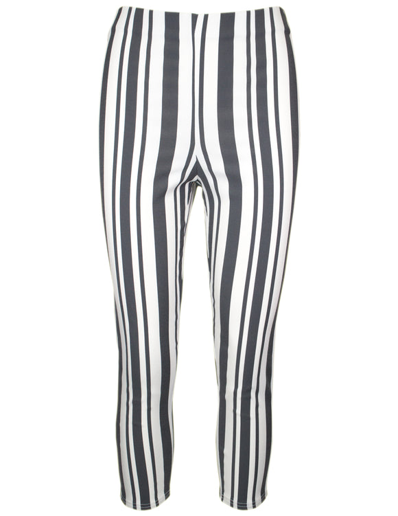 MITZY Stripe Crop Bengaline Trousers