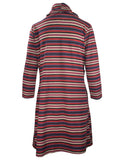 3/4 Sleeve Stripe Tab Side Dress