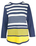 MITZY Block Colour Stripe Jumper
