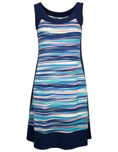 MITZY Stripe Panel Detail Dress
