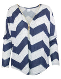 Zip Front Chevron Top