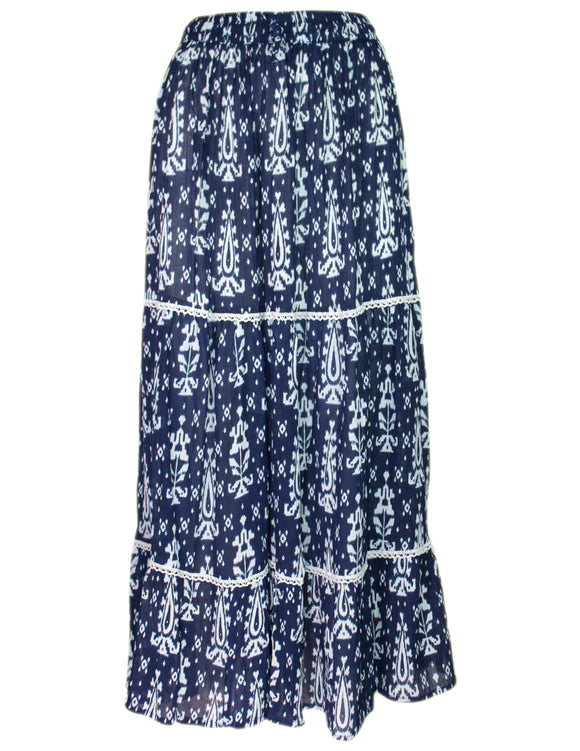 MITZY Ikat Tiered Skirt
