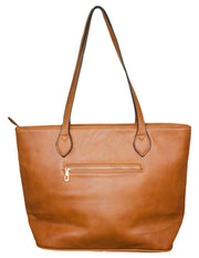 MITZY Straw Panel Shopper Bag
