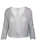 MITZY Metallic Lace Leaf Shrug