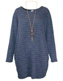 MITZY Textured Tunic With Necklace
