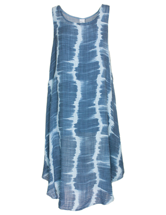 MITZY Tie Dye Print Cotton Dress
