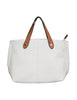 Contrast Handle Tote Bag