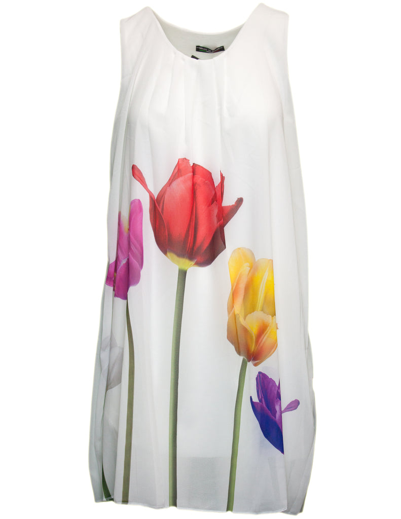 Tulip Print Swing Dress