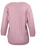 MITZY Cable Front V-Neck Jumper
