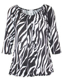 MITZY Zebra Off Shoulder Top