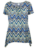MITZY Zig Zag Metallic Waterfall Top