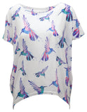 T-shirt In Bright Hummingbird Print