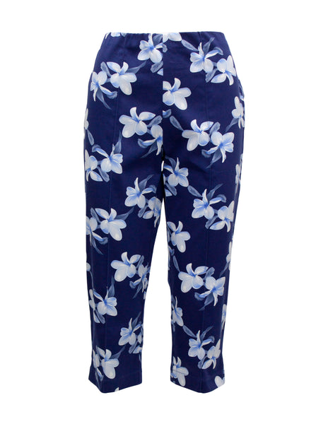 Cropped Floral Trousers