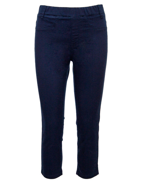 Crop Pull On Denim Trouser