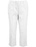 Cropped Cotton Sateen Trouser